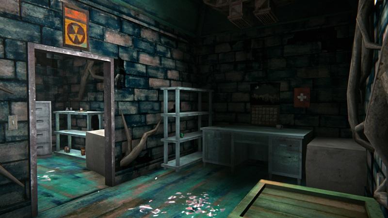 Медицинский бункер в игре The long dark (вид от входа)