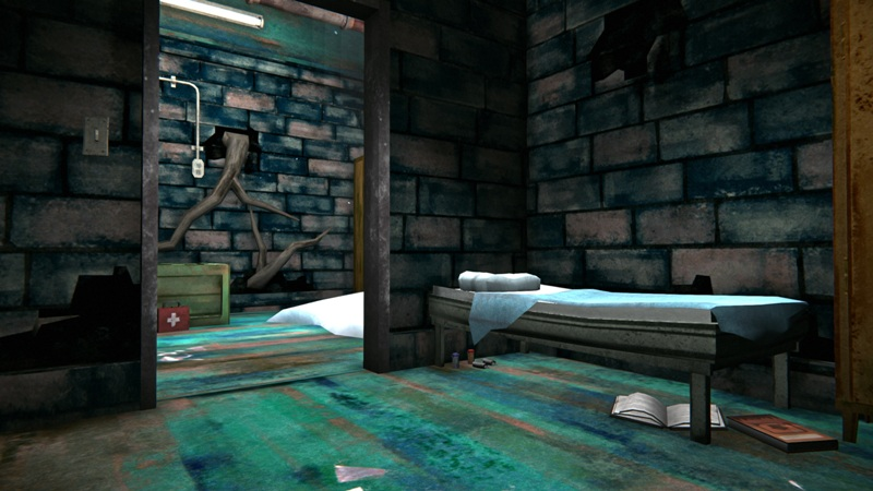 Медицинский бункер в игре The long dark (нычка под кроватью)