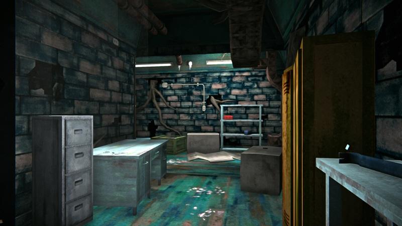 Инструментальный бункер в игре The long dark (вид от входа)