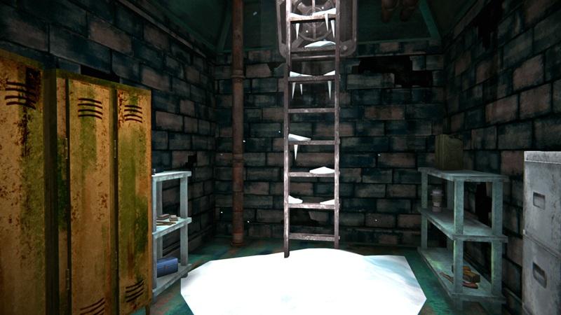 Бункер с инструментами в игре The long dark (вид на выход)