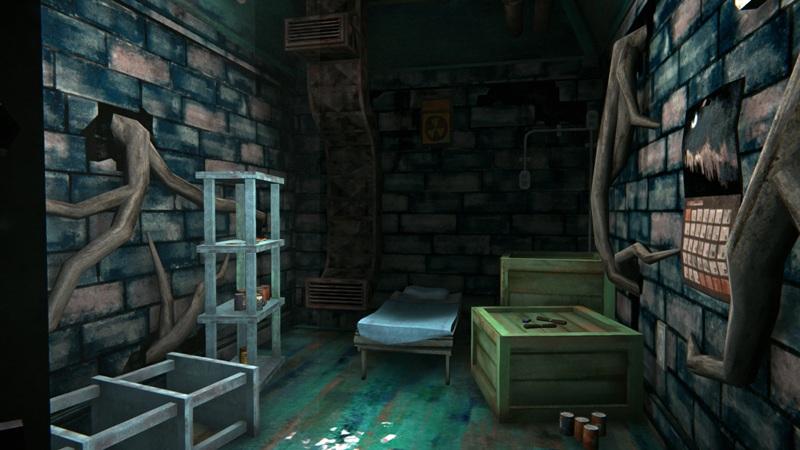 Продуктовый бункер в игре The long dark (вид от входа)