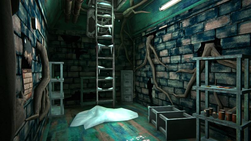 Продуктовый бункер в игре The long dark (вид на выход)