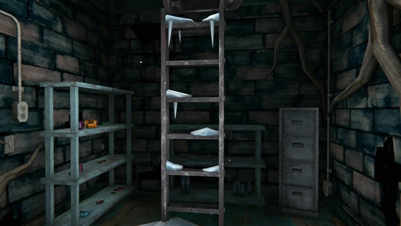 Бункер с продуктами в игре The long dark (вид на выход)