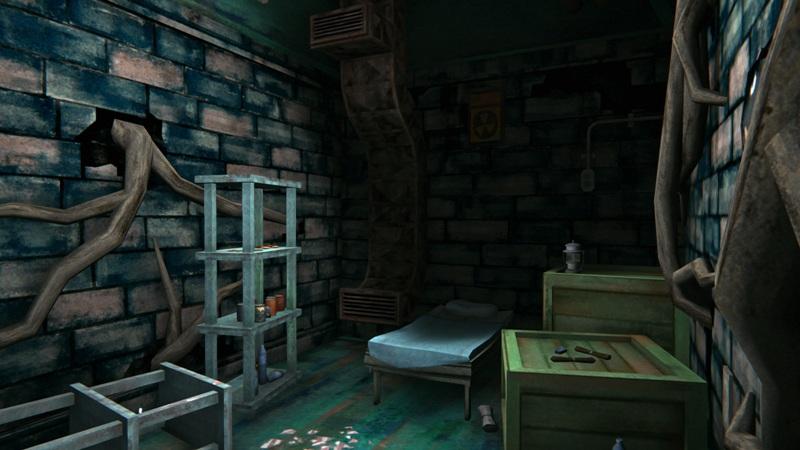 Бункер с продуктами в игре The long dark (вид со стороны входа)