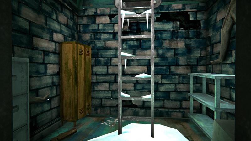 Бункер с дровами в игре The long dark (вид на выход)