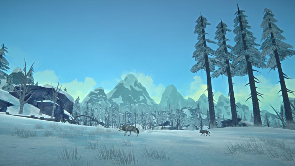 Пара лесных волков в игре The long dark