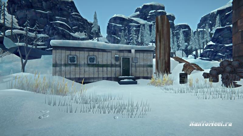Вагончик около Китобойной станции на локации Зона запустения в игре The long dark