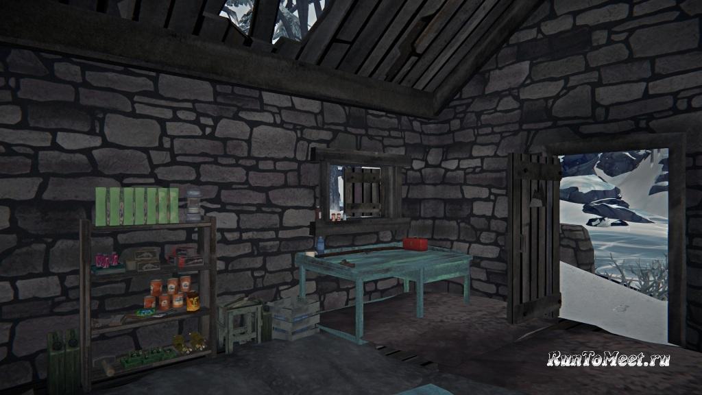 База в Хижине альпиниста на Волчьей горе в игре The long dark
