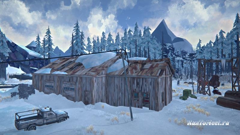 Ремонтная площадка на Разбитой железной дороге в игре The long dark