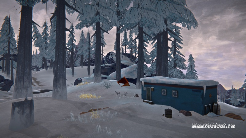 Прицеп на локации Милтон в The long dark