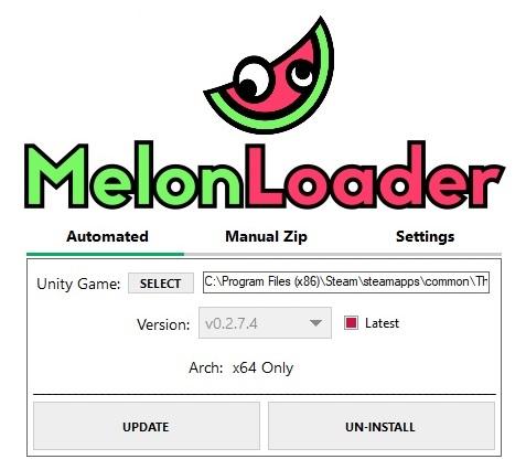 Обновление или удаление программы MelonLoader, для The long dark