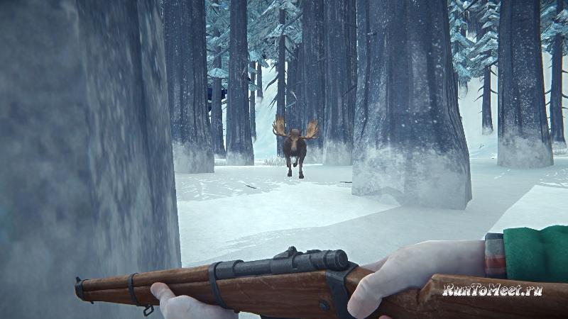 Охота на Лося из-за дерева, на Загадочном озере, в игре The long dark