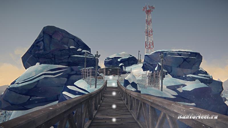 Путь к радиовышке, на локации Бледная бухта, в The long dark. Шаг 8