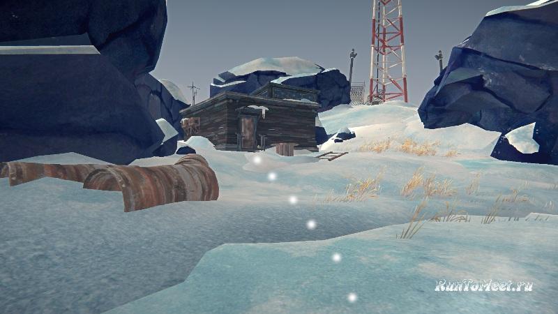 Путь к радиовышке, на локации Бледная бухта, в The long dark. Шаг 9