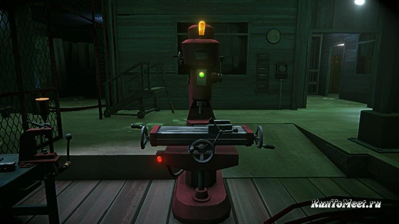 Фрезерный станок, в мастерской, на консервном заводе, в игре The long dark
