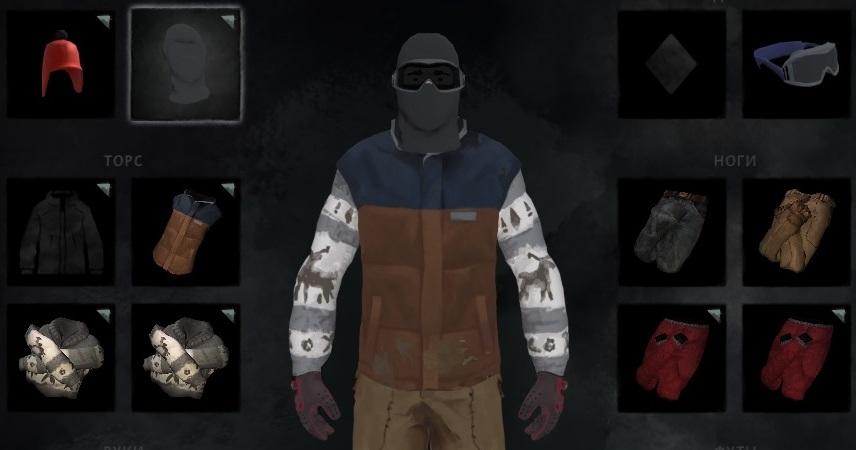Мод Clothing Pack добавляет в The long dark лыжную маску, очки и красную шапочку