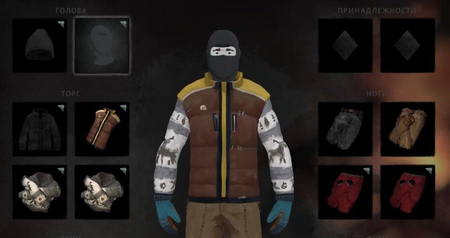 Лыжная маска из мода Clothing Pack в игре The long dark