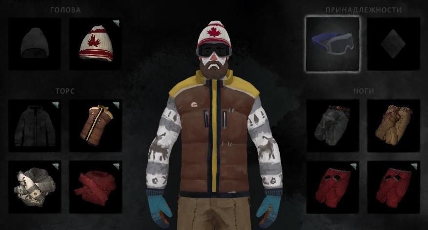 Горнолыжная маска из мода Clothing Pack в игре The long dark