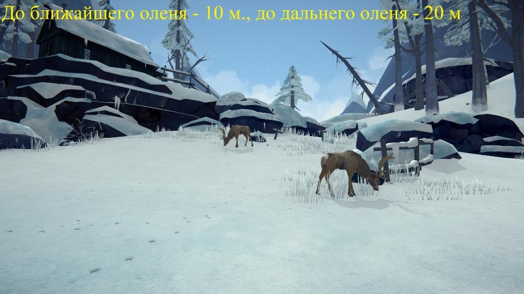 Раcстояние равное 10 и 20 метрам в игре The long dark