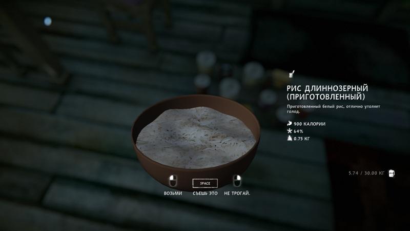 Тарелка риса из мода Food-Pack на игру The long dark