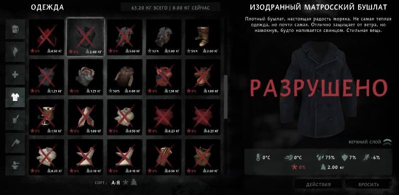 Мод Gear Decay Modifier на игру The long dark изменяет скорость износа вещей