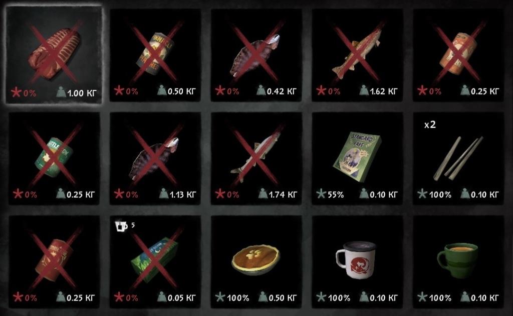 Продукты питания которые не портятся в игре The long dark