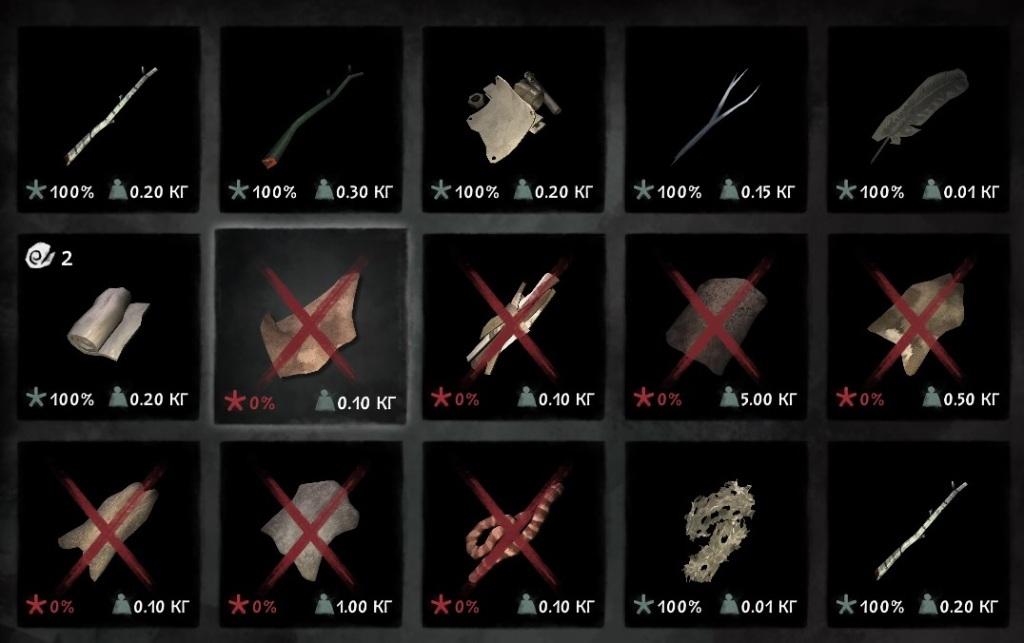 Свежие шкуры, кишки и кожа в игре The long dark