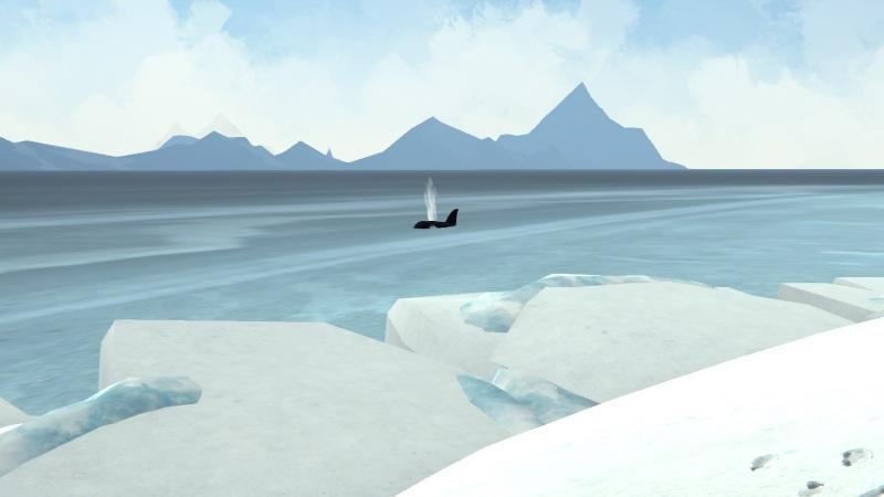 Мод Lonely Orca на The long dark добавляет в игру косатку