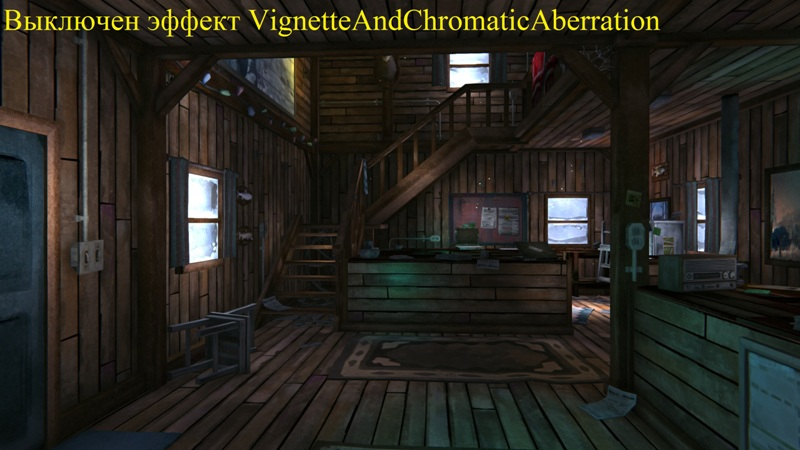 Выключен эффект Vignette And Chromatic Aberration в игре The long dark