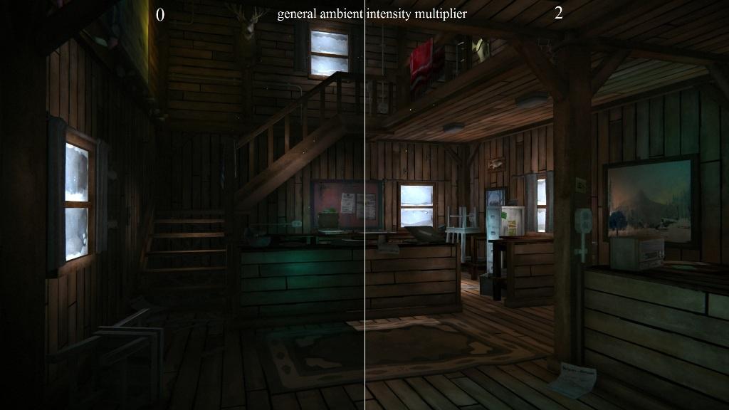 Сравнение интенсивности освещения в моде Ambient lights на TLD