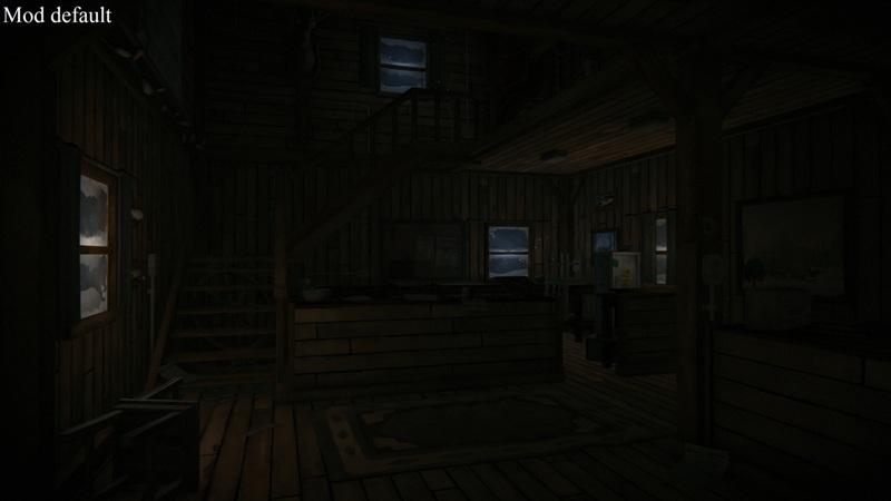 Ночное освещение mod default в моде Ambient lights на TLD