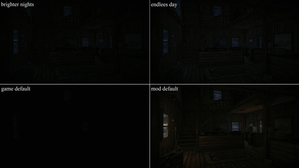Варианты ночного освещения в моде Ambient lights на TLD
