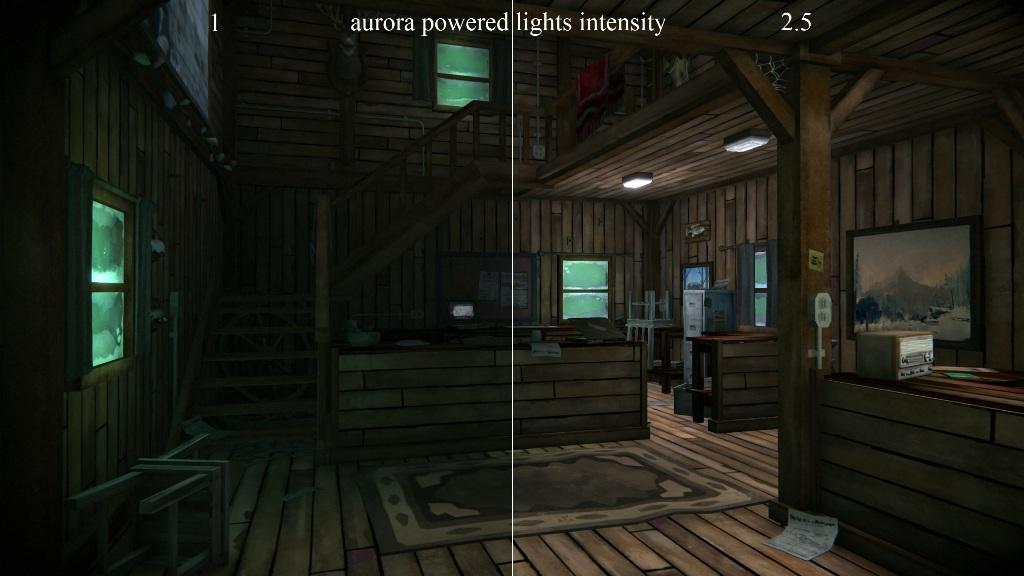 Сравнение освещения при авроре в моде Ambient lights на TLD