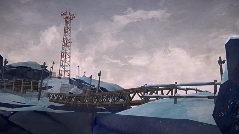 Радиовышка, на локации Бледная бухта, в обновлении 1.64 игры The long dark
