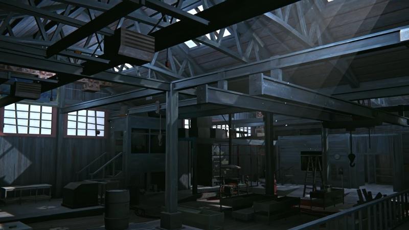 Заводской цех, на локации Бледная бухта, в обновлении 1.64 игры The long dark