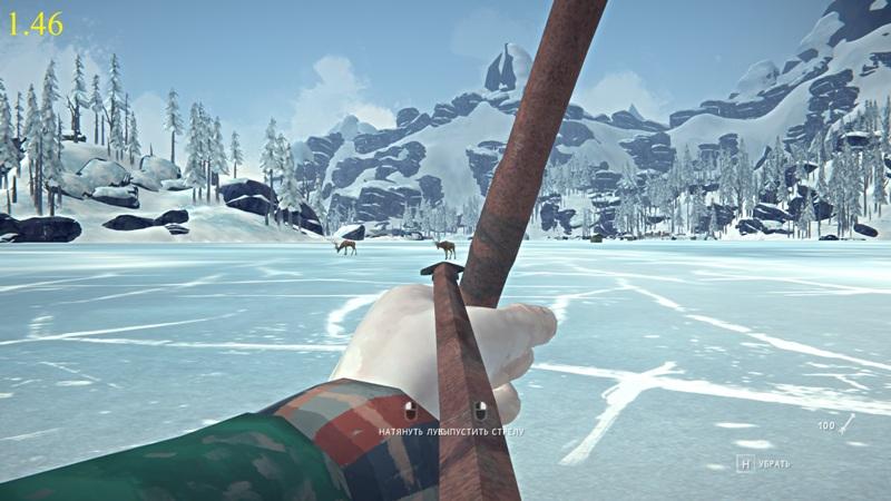 Прицеливание из лука в версии 1.46 игры The long dark