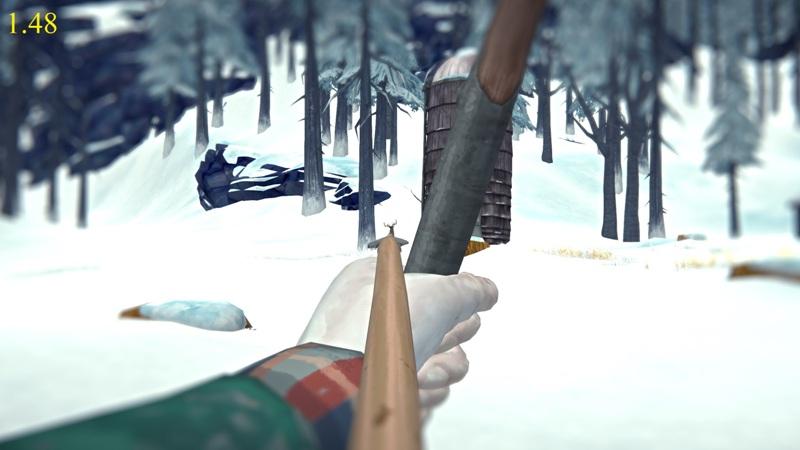 Прицеливание из лука в версии 1.48 игры The long dark