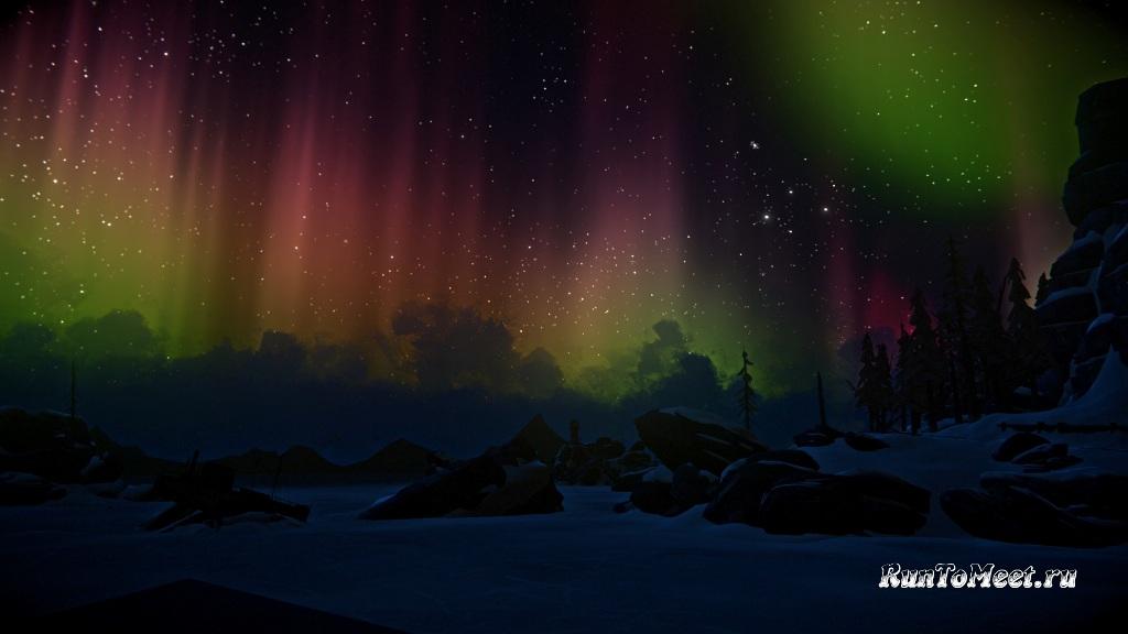 Красота The long dark отображается в разноцветной Авроре