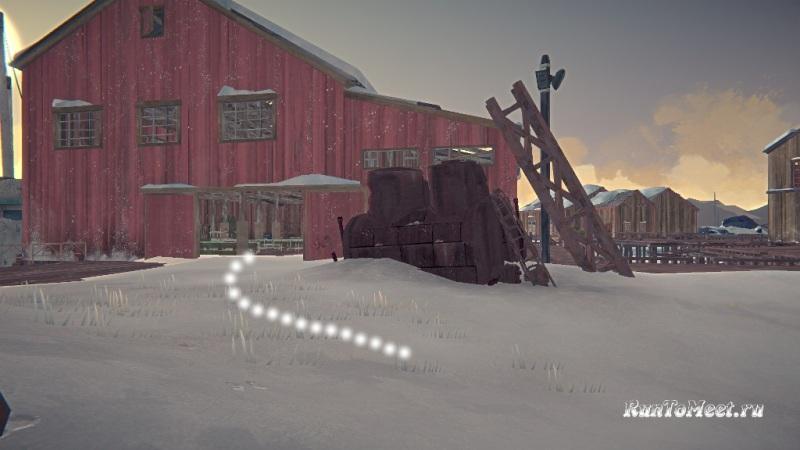 Путь к мастерской со станками, на заводе Бледной бухты, в The long dark. Шаг 1