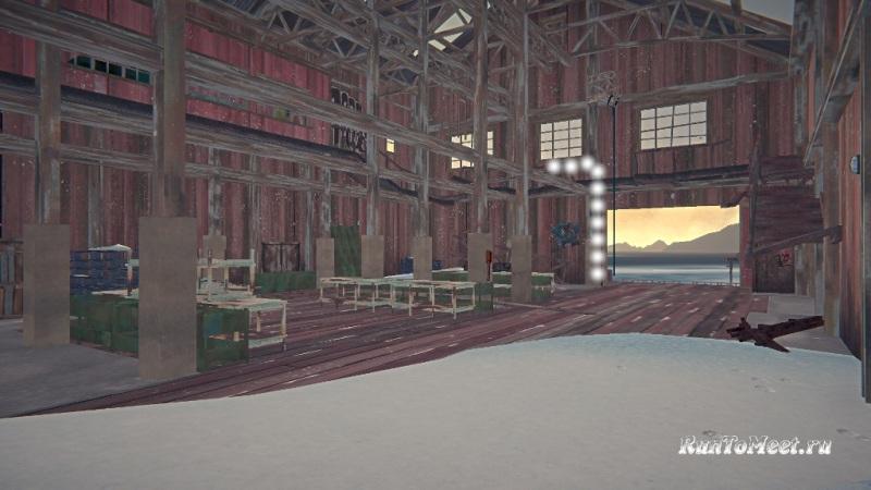 Путь к мастерской со станками, на заводе Бледной бухты, в The long dark. Шаг 2