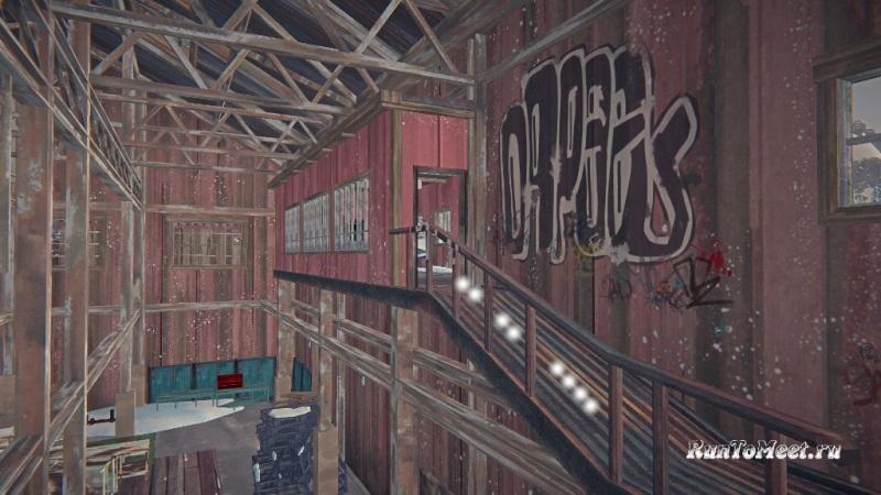 Путь к мастерской со станками, на заводе Бледной бухты, в The long dark. Шаг 3