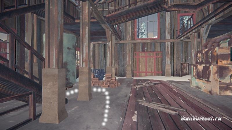 Путь к мастерской со станками, на заводе Бледной бухты, в The long dark. Шаг 7