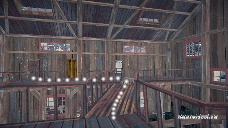 Путь к мастерской со станками, на заводе Бледной бухты, в The long dark. Шаг 8