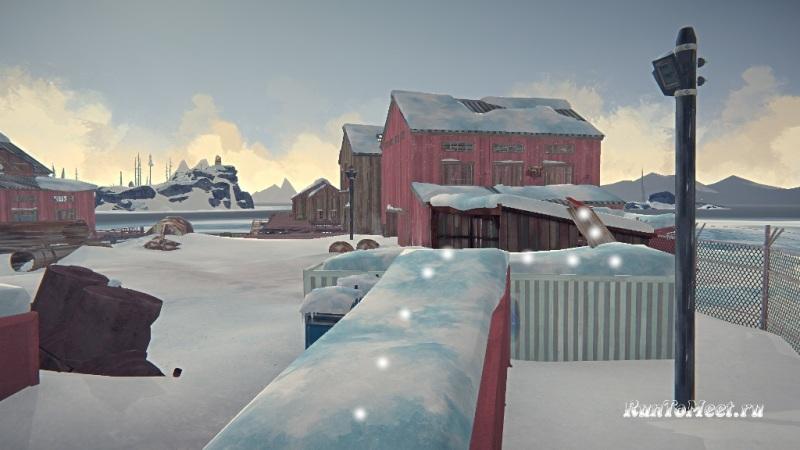 Путь к мастерской со станками, на заводе Бледной бухты, в The long dark. Шаг 15