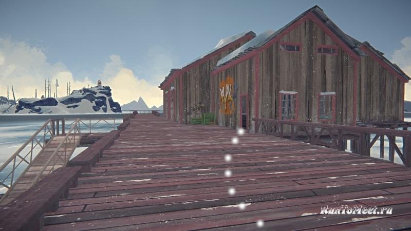Путь к мастерской со станками, на заводе Бледной бухты, в The long dark. Шаг 21