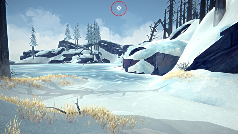 Индикатор 'В убежище' (место где нет ветра) в игре The long dark