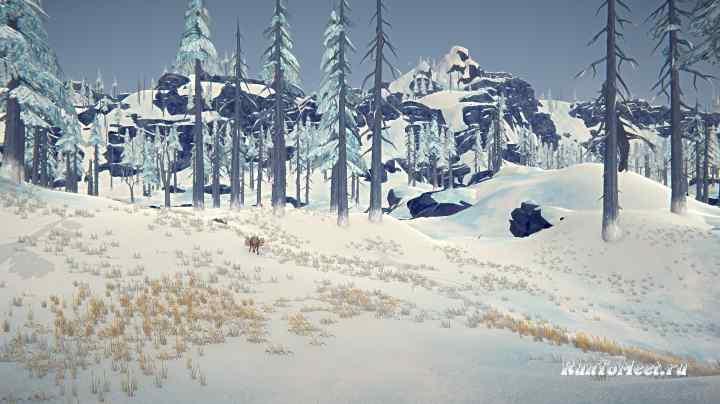 Лось возле Разрушенных вагончиков, на локации Бледная бухта, в игре The long dark