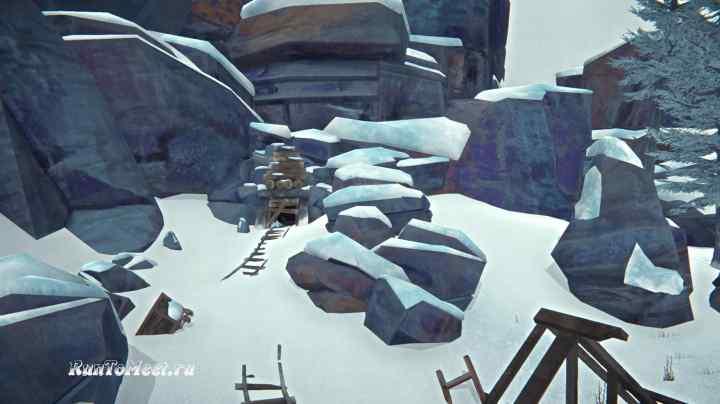 Вход в золотую шахту Пепельного каньона игры The long dark
