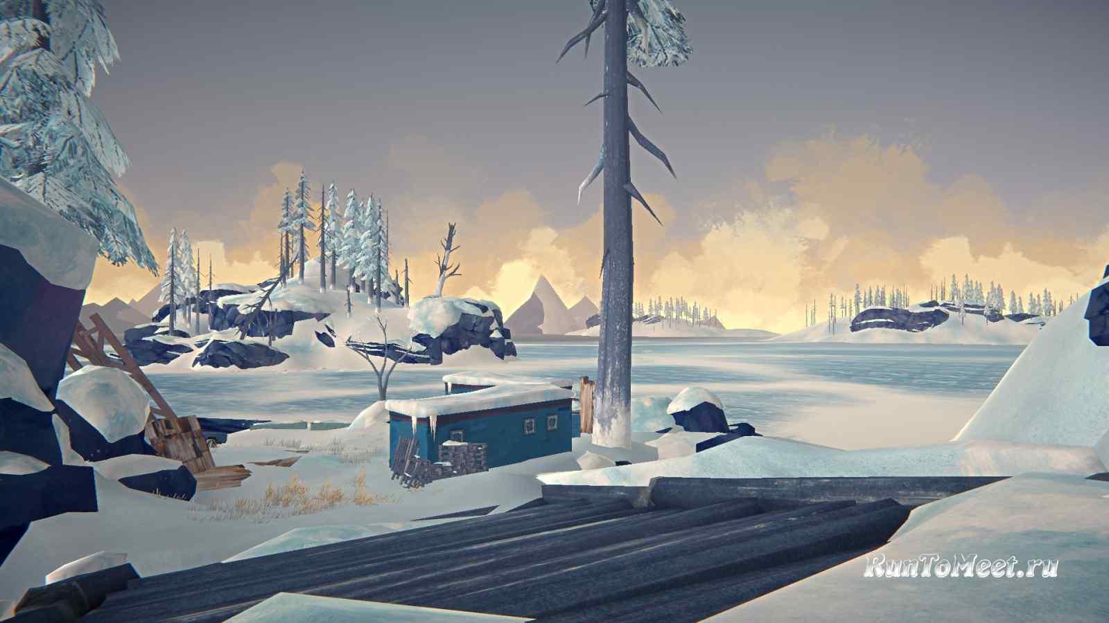 Вагончики, возле Консервного завода, на Бледной бухте, в игре The long dark