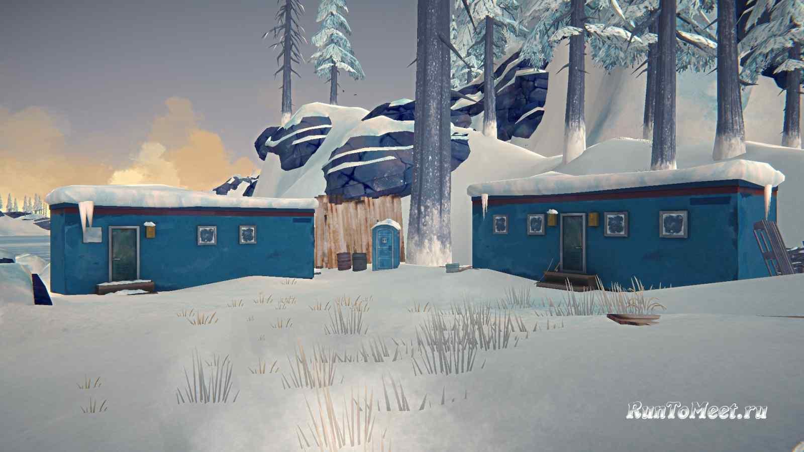 Два вагончика, возле Консервного завода, на Бледной бухте, в игре The long dark